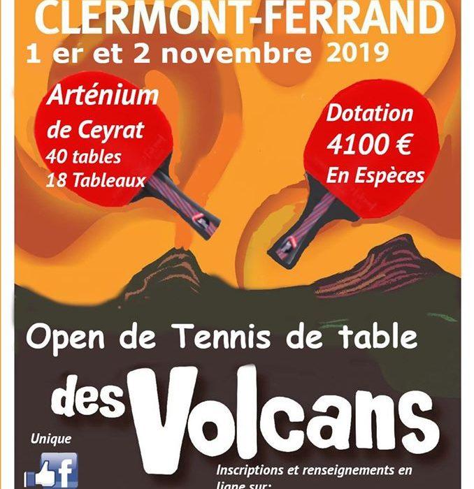 Open de Tennis de Table des Volcans